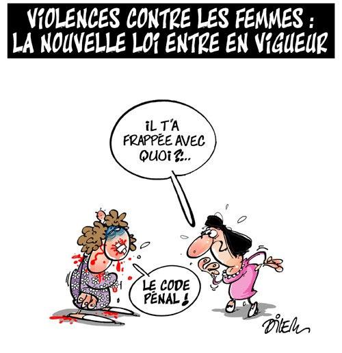 Violence contre les femmes: La nouvelle loi entre en vigueur