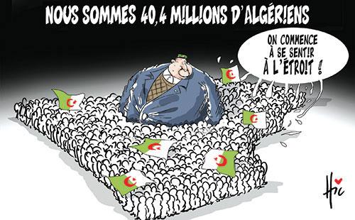 Nous sommes 40,4 millions d'algériens